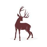 Deer. Logo design on a white background royalty free illustration