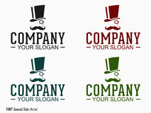 Gentleman logo Royalty Free Stock Photos