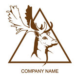Deer logo Stock Photo