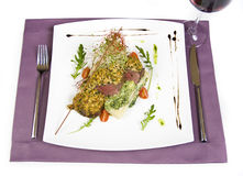 Deer loin dish Royalty Free Stock Photography
