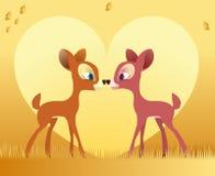 Deer love Stock Photo
