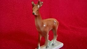 Deer made of porcelain Royalty Free Stock Photos