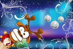 Deer Merry Christmas and Happy New Year Royalty Free Stock Images