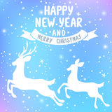 Deer New Year Royalty Free Stock Photography