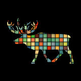 Deer northern color silhouette animal Stock Photography