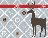 Deer over pretty background Stock Images