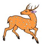 Deer painting Stock Image