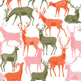 Deer pattern, deer background Royalty Free Stock Photo