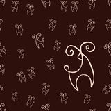 Deer pattern royalty free stock photo