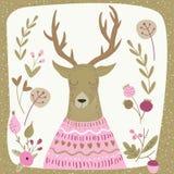 Deer pink Royalty Free Stock Photo