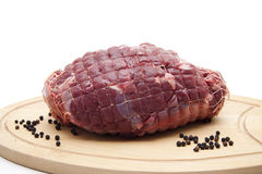 Deer roast raw Royalty Free Stock Image