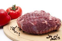 Deer roast raw Stock Photography