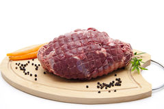 Deer roast raw Stock Photos