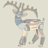 Deer robot. The nature of modernisation, robot become a new member in the world Royalty Free Stock Photo