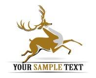 Deer run. In cartoon  style Stock Photo