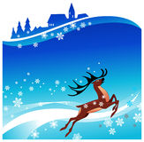 Deer rushing Royalty Free Stock Photography