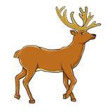 Deer Santa Claus Stock Images