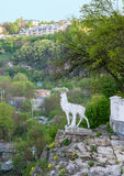 Deer sculpture above the canyon Royalty Free Stock Photo