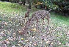 Deer sculptures, Canonteign Falls, nr Exeter Royalty Free Stock Photography