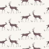 Deer seamless background Royalty Free Stock Photography