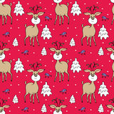 Deer seamless pattern Stock Photography