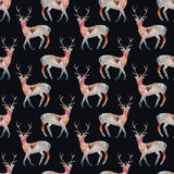 Deer. Seamless pattern with cosmic or galaxy deers Royalty Free Stock Images