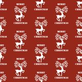 Deer seamless pattern Stock Image