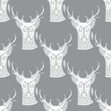 Deer seamless pattern Stock Photos