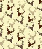 Deer seamless pattern. Vector, brown Royalty Free Stock Image