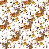 Deer seamless pattern Stock Photo