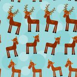 Deer. Set of funny animals seamless pattern on a Stock Photos