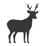deer shadow side view, graphic Royalty Free Stock Photography
