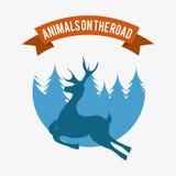 Deer signal Royalty Free Stock Photo