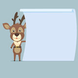 Deer with signboard Stock Images