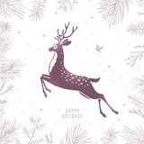 Deer silhouette Christmas Royalty Free Stock Image