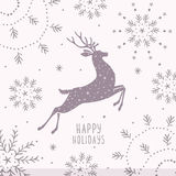 Deer silhouette christmas Royalty Free Stock Photography
