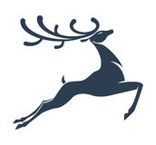 Deer silhouette Christmas Royalty Free Stock Photo