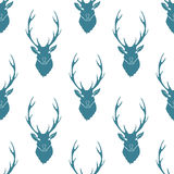 Deer Silhouette Seamless Pattern. Vector Stock Photos