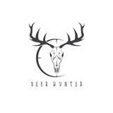Deer skull with target vector design Stock Image