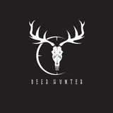 Deer skull with target vector design Royalty Free Stock Photography
