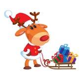 Deer and sledge Stock Image