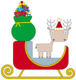 Deer of the sleigh Stock Images