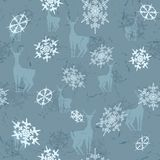 Deer with snowflakes Royalty Free Stock Photos
