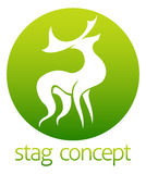 Deer stag circle design Stock Photography