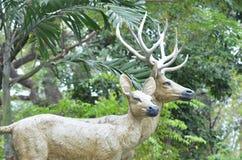 Deer statue. In dusit zoo,thailand Stock Photography