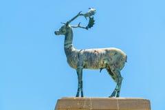 Deer statue. Rhodes, Greece Stock Photos