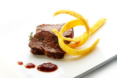 Deer steak fillet Royalty Free Stock Photos