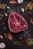 Deer steak. royalty free stock photo