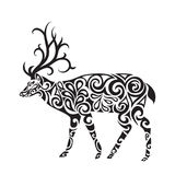 Deer in the style of a tattoo Stock Images