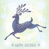 Deer stylized Christmas Stock Photo